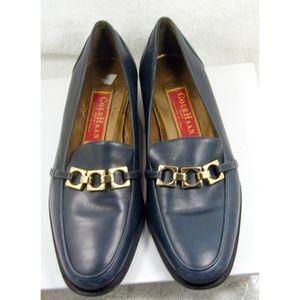 Cole Haan dark blue gold links dress shoes